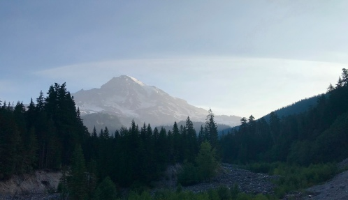 First views of Mt. Rainier