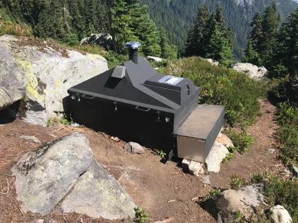 Fancy backcountry toilet